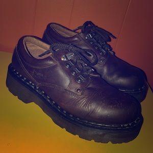 Dr Martens Vintage Brown Leather Ankle Boots UK 9